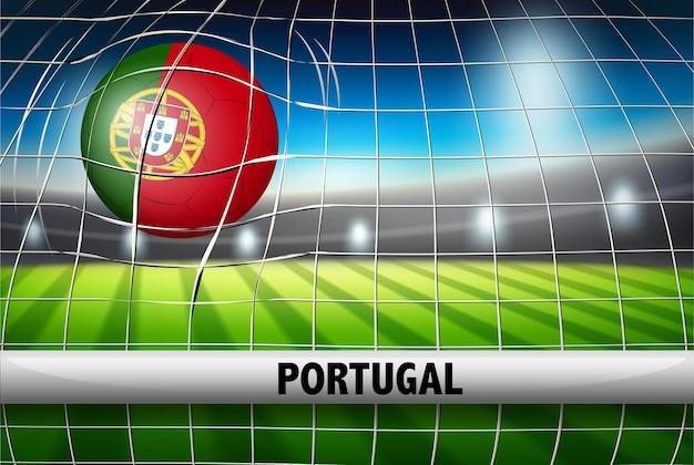 Eine portugiesische fußballvorlage