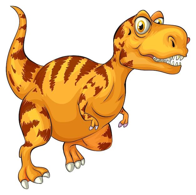 Eine raptorex-dinosaurier-cartoon-figur