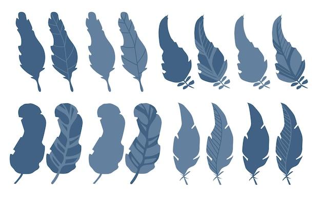Eine reihe moderner vorlagen mit einer abstrakten komposition einfacher formen