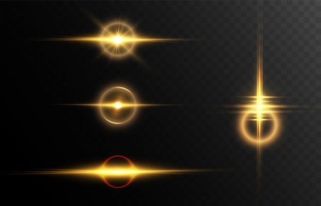 Eine reihe von abstrakten lichteffekten für vektorillustrationen vector 10 eps