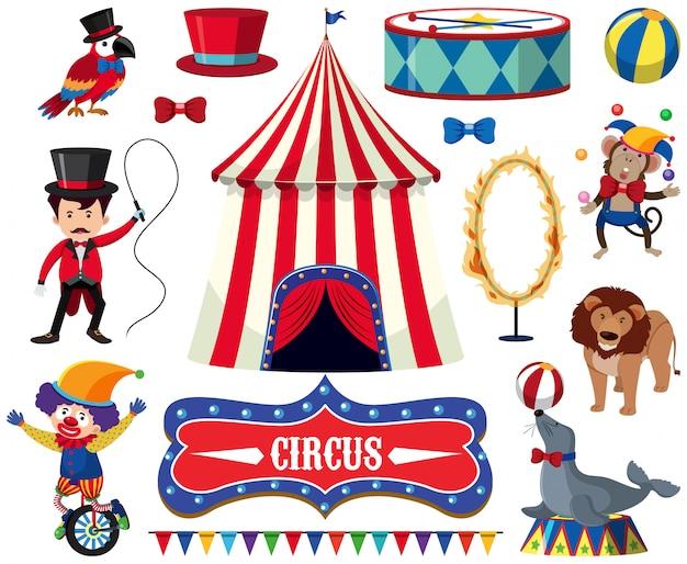 Eine reihe von circus show