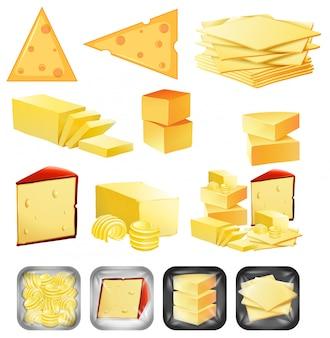 Eine reihe von käse
