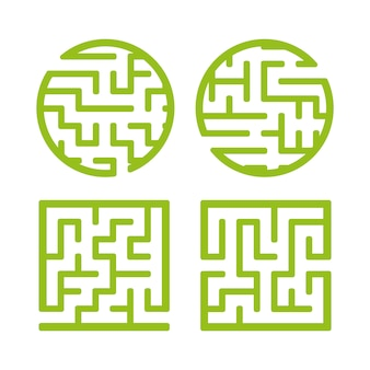 Eine reihe von labyrinthen.