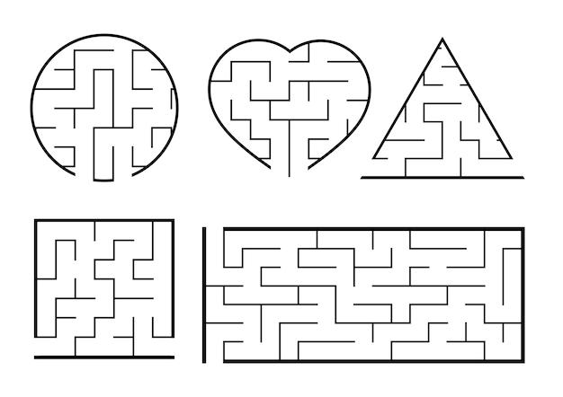 Eine reihe von labyrinthen
