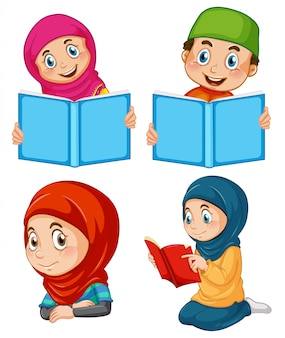 Eine reihe von muslimen