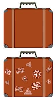 Eine reihe von vintage-koffer