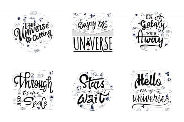 Eine reihe von zitaten über den kosmos