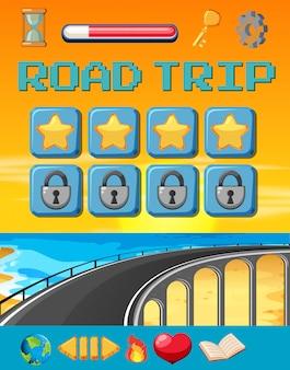 Eine road-trip-spielvorlage
