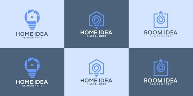 Eine sammlung inspirierender designideen für das heimlogo