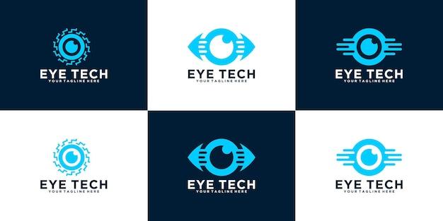 Eine sammlung von logos sehen und sehen augentechnologiedaten