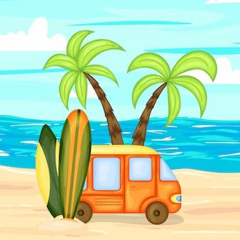 Eine sammlung von sommerartikeln illustration