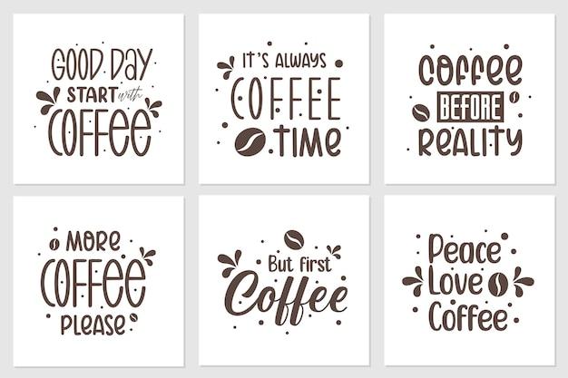 Eine sammlung von zitaten über kaffee.
