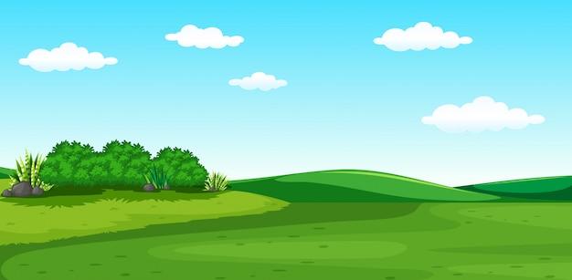 Eine schöne grüne landschaft