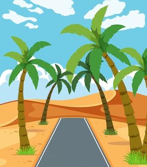 Eine schöne wüstenstraße