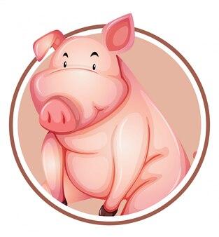 Eine schweinaufklebervorlage