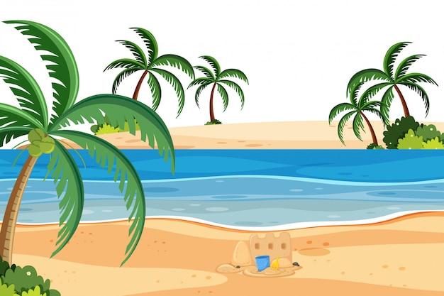 Eine sommerliche strandlandschaft