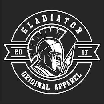 Eine spartanische kriegerlogoschablone