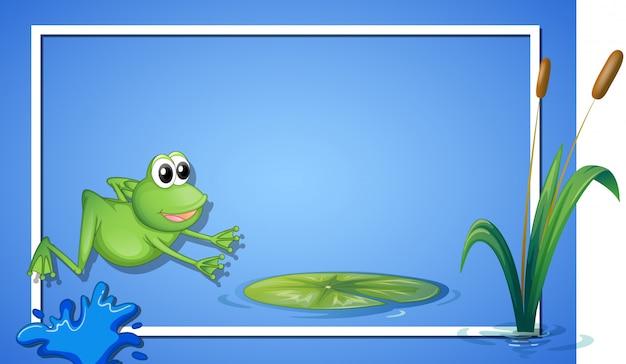 Eine springende frosch-grenze