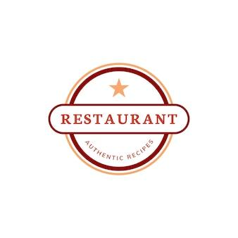 Eine Sternrestaurant-Ikonenillustration