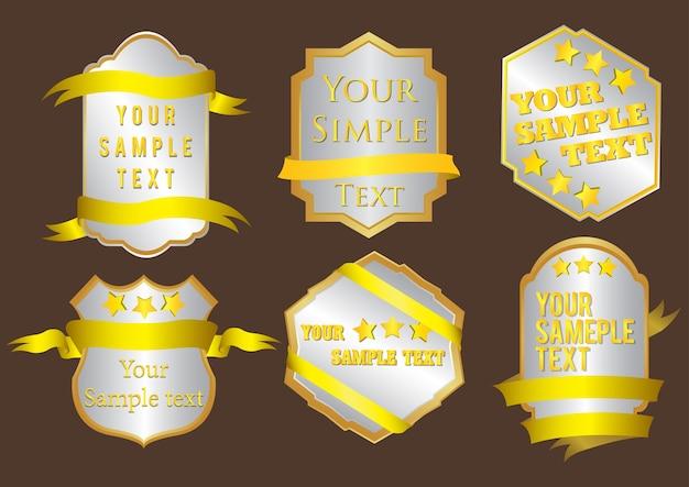 Eine stilvolle goldabzeichen