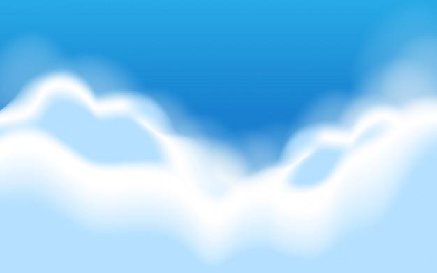 Eine szene des blauen himmels