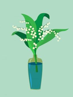 Eine tallilie in einer vase