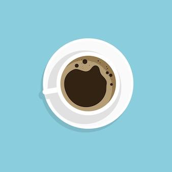 Eine tasse kaffee schwarz