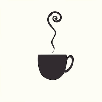 Eine tasse kaffee-symbol-logo-vektor-illustration