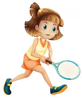 Eine tennismädchenfigur