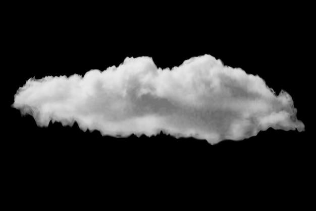 Eine transparente realistische wolke auf schwarzem hintergrund kann auf jeden hintergrund angewendet und als ebenenmaske verwendet werden.