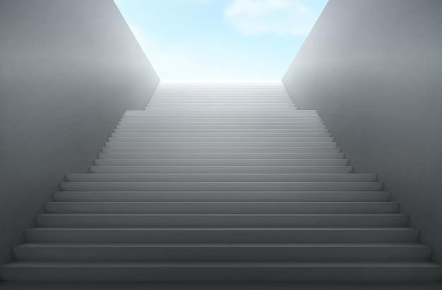 Eine treppe führt zum himmel.