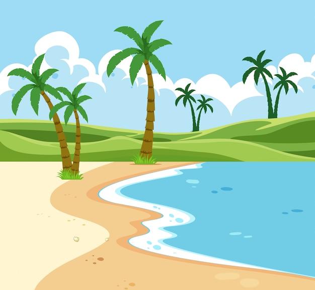 Eine tropische strandlandschaft