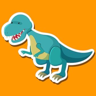 Eine tyrannosaurus-zeichentrickfigur