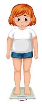 Eine übergewichtige frauenfigur