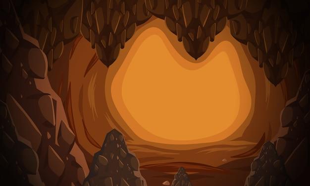 Eine unterirdische höhlenszene