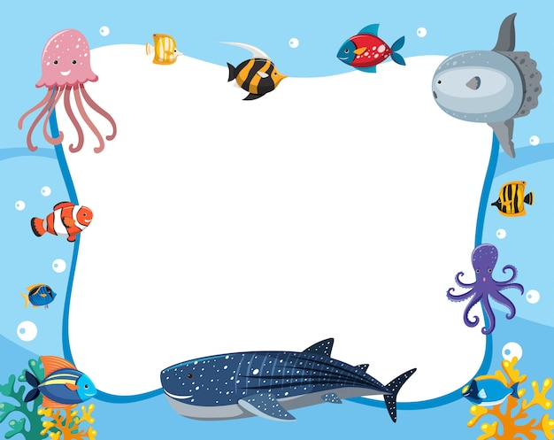 Eine unterwassertiergrenze