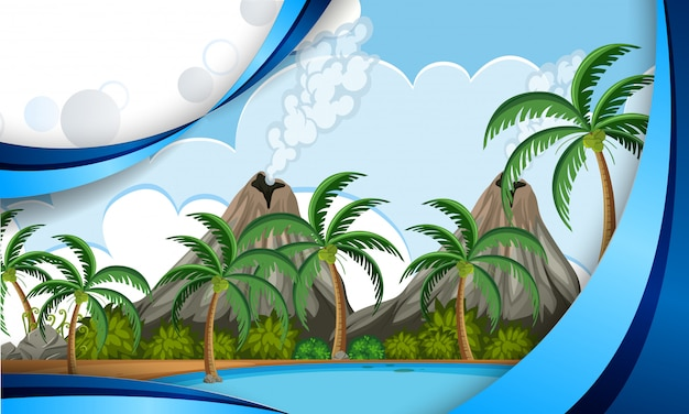 Eine vorlage der vulkaninsel