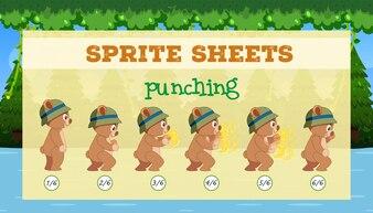 Eine Vorlage für ein Sprite-Sheet-Stanzspiel