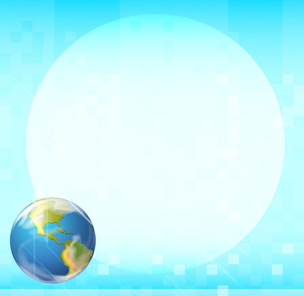 Eine vorlage mit einem globus