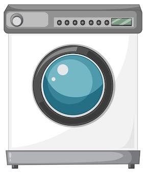 Eine waschmaschine auf weißem hintergrund