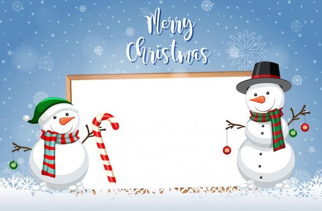 Eine weihnachtskartenschablone