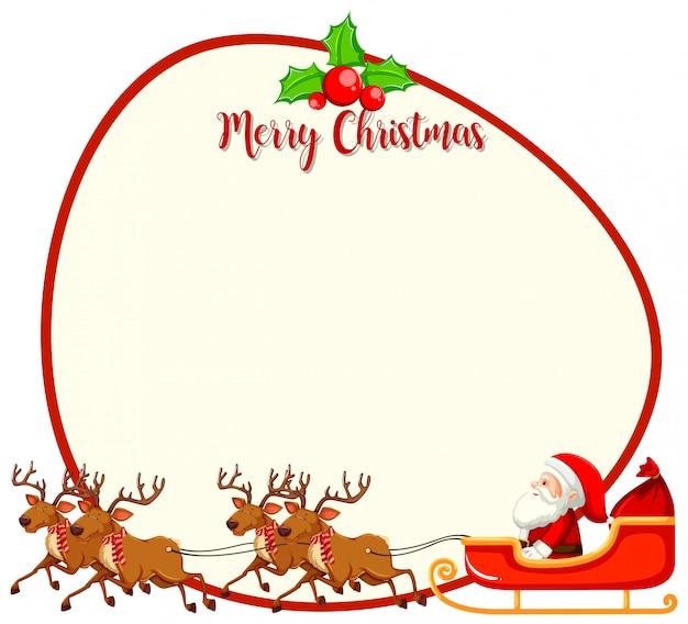 Eine weihnachtskartenvorlage