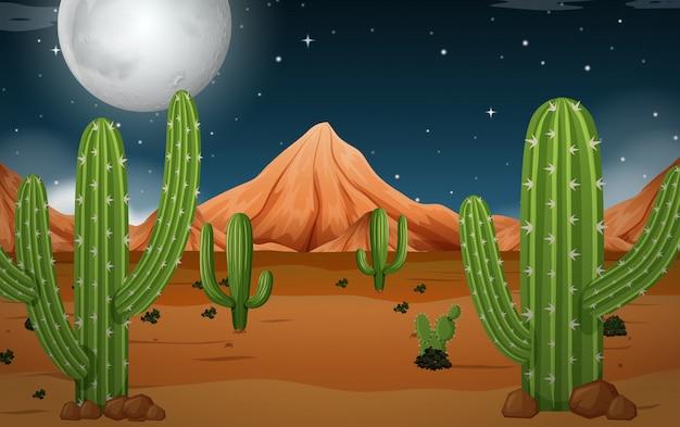 Eine wüste bei nacht