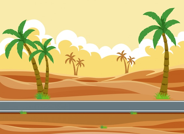 Eine wüstenstraßenlandschaft