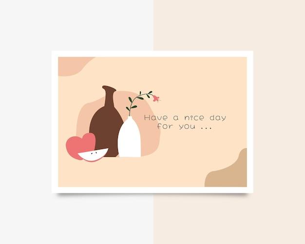 Einen schönen tag für dichgrußkarte