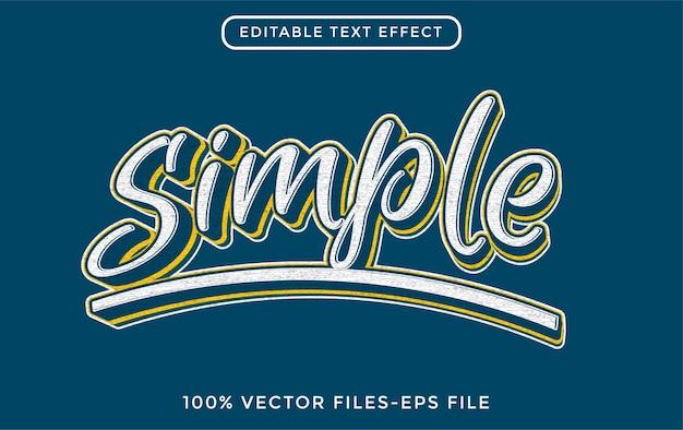 Einfach - bearbeitbarer texteffekt des illustrators premium-vektor
