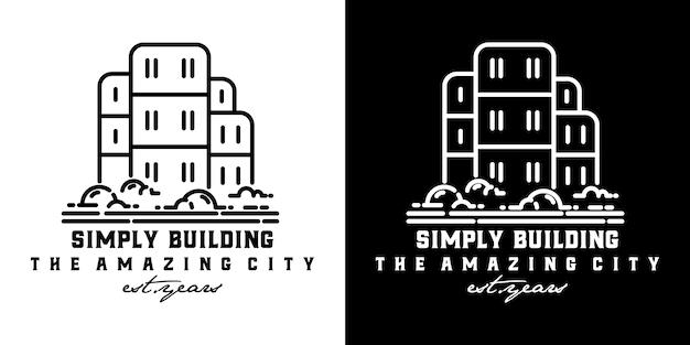 Einfach minimalistisches design aufbauen