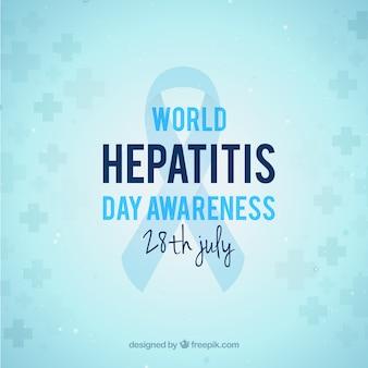 Einfache backgroud von hepatitis-tag