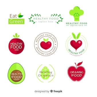 Einfache bio-lebensmittel-etikettenpackung