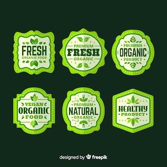 Einfache bio-lebensmittelkollektion